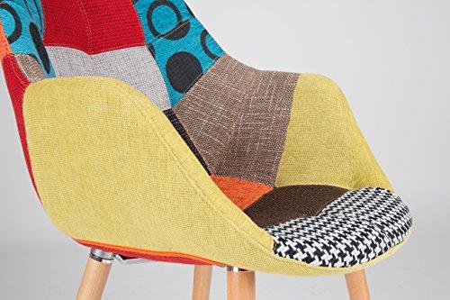 Zuiver 1100266 Stuhl twelve patchwork set of 2, Stoff, mehrfarbig, 60 x 60 x 82 cm