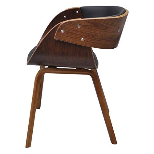 2 x Esszimmer Stuhl Stühle Sessel Esszimmerstühle Holzrahmen braun