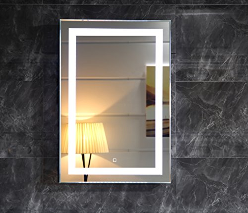 Dr fleischmann led beleuchtung badspiegel gs099 lichtspiegel wandspiegel 50x70cm mit touch - Badspiegel 50 x 70 ...