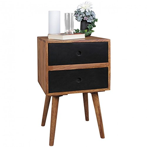 wohnling retro nachtkonsole repa sheesham holz. Black Bedroom Furniture Sets. Home Design Ideas