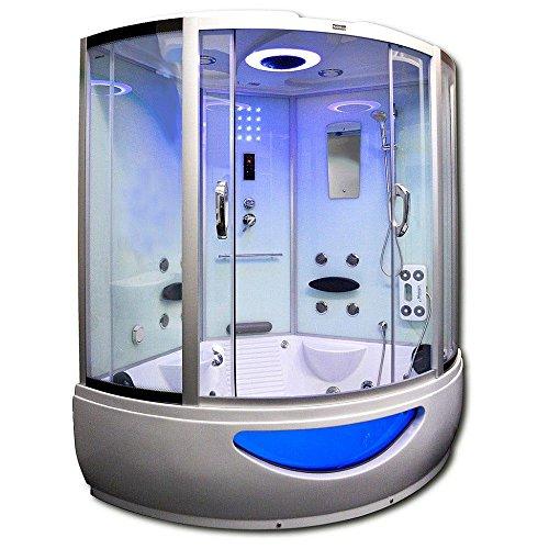 home deluxe exclusive wei duschtempel inkl whirlpool und dampfsauna m bel24. Black Bedroom Furniture Sets. Home Design Ideas