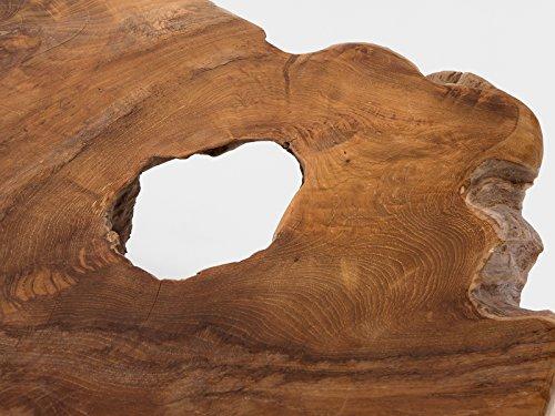 massivum Couchtisch Tree 80x32x80 cm Teak natur gewachst