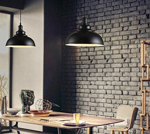 Modern Loft Pendelleuchte Deckenleuchte Lampenschirm Moder-Art-Lampe 1X E27 Fassung Max. 60W (Schwarz)