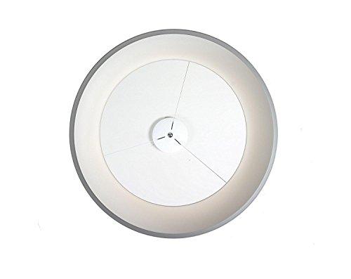 LED Pendelleuchte Modern Hollow Runde Restaurant Büro Hänge weiß Acryl Pendelleuchten Dimmbar 3000K-6000K(Durchmesser 60cm) , Dimmable