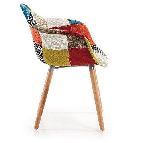 Kavehome Kevya Patchwork-Stuhl mit Armlehnen