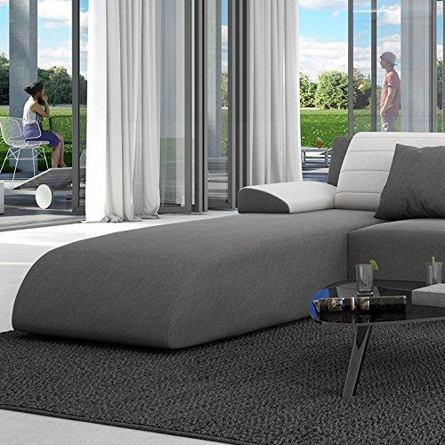 innocent ecksofa mit schlaffunktion aus textil grau r ckenlehne wei es kunstleder movia m bel24. Black Bedroom Furniture Sets. Home Design Ideas
