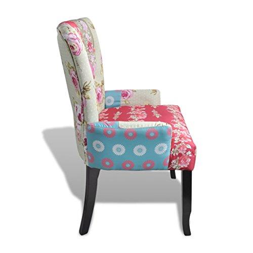 Vidaxl patchwork relaxsessel esszimmer stuhl polstersessel for Polstersessel esszimmer