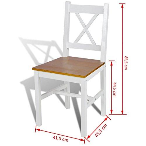 6x Esszimmerstuhl Küchenstuhl Holzstuhl Esszimmer Stuhl Landhaus Massivholz