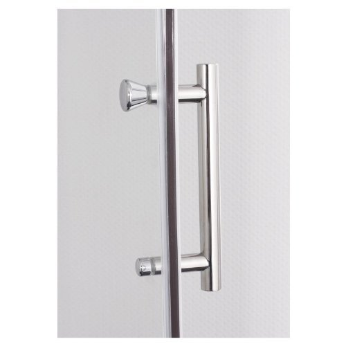 Galdem Duschabtrennung Premium 6 mm / Duschkabine / Dusche / Profil in Alu-Chromglanz / Drehtür mit Magenetverschluss / Echtglas / Sicherheitsglas (80 x 80 x 195 Eckeinstieg)