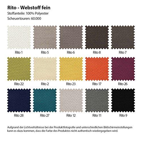 Polsterecke Sofa BAVERO mit Schlaffunktion Schlafsofa Schlafcouch Wohnlandschaft Kunstleder Webstoff Bettfunktion