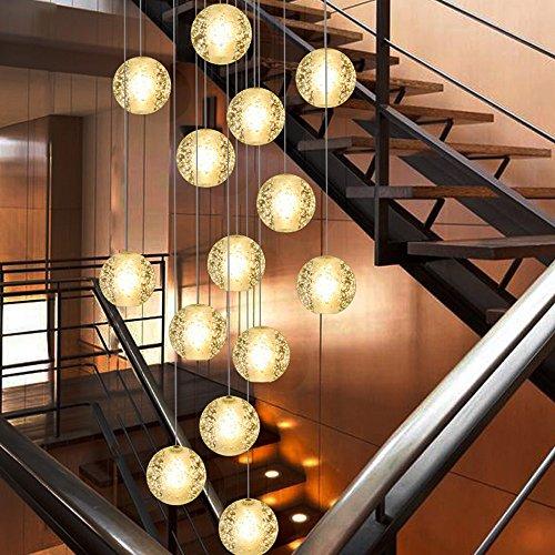 KJLARS Pendelleuchte LED Moderne Pendellampe Hängeleuchte Höheverstellbar Kronleuchter geeignet für Wohzimmer Esstisch, Treppe, Schlafzimmer Deckenleuchte Hängelampe (14 Lights)