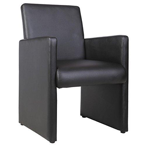 Cocktailsessel Esszimmerstuhl Besucherstuhl TONY, gepolstert in schwarz