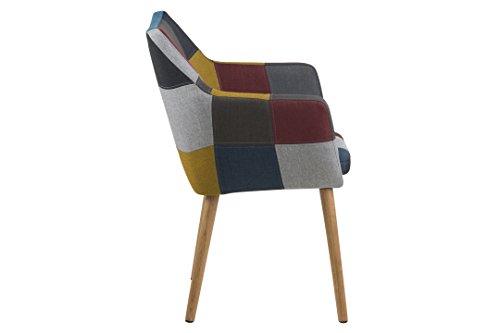AC Design Furniture 64678 Armstuhl, Stoff, mehrfarbig, 58 x 58 x 84 cm