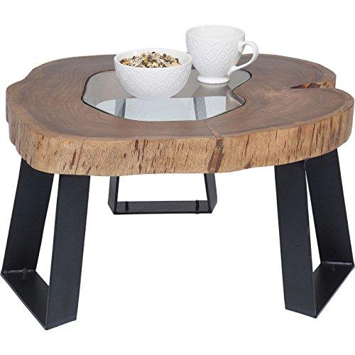 Kare 80840 Couchtisch Fundy Möbel, Holz, braun / schwarz, 65 x 60 x 35 cm