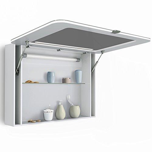 spiegelschrank led wei hochglanz badschrank badspiegel spiegel 90cm m bel24. Black Bedroom Furniture Sets. Home Design Ideas