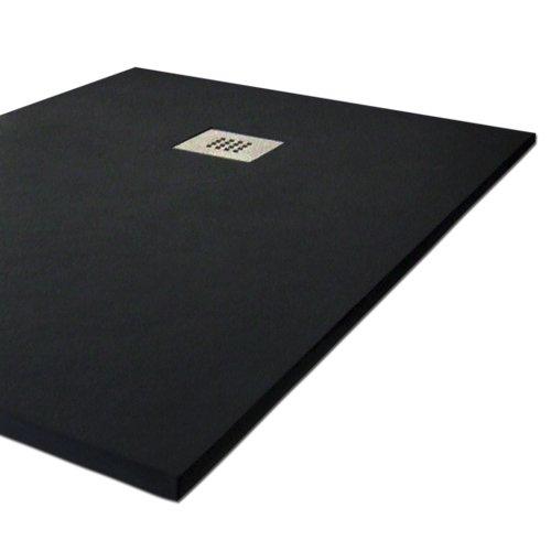 Duschtasse Harz Slate. 70x 90cm. Schwarz