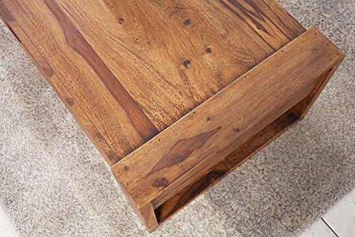 Massiver Couchtisch MARKANT 100 cm Sheesham mit Schublade Holztisch Tisch
