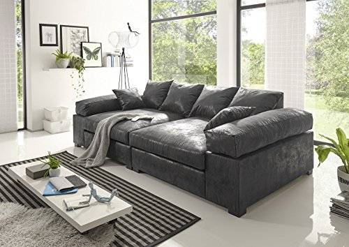 big sofa vintage grau modell hercules cyber monday verl ngerungsaktion m bel24. Black Bedroom Furniture Sets. Home Design Ideas