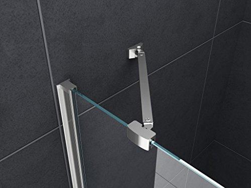 Duschkabine Deto-Fix 90 x 90 x 190 cm ohne Duschtasse