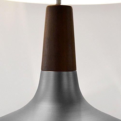 LICHT-TREND Pinzantero 5 / Stahl-Pendelleuchte / Ø 39 cm / Walnuss-Holz