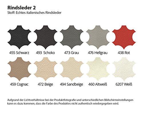 Polsterecke Siena mit Farbwahl Wohnlandschaft Couchgarnitur Echtleder mit Kunstleder (Ausrichtung Normal)