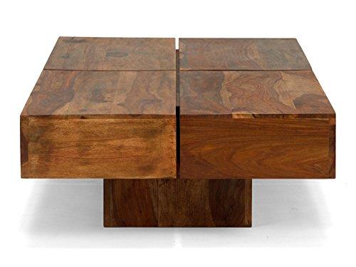 massivum Couchtisch Cube 140x30x70 cm Palisander braun lackiert
