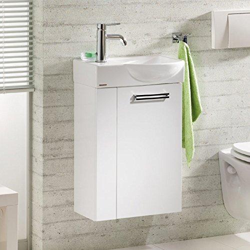 Badmöbel Waschplatz »COMO« in Hochglanz weiß