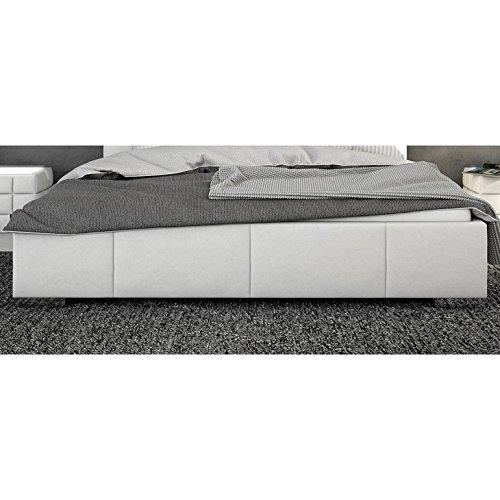 Innocent Polsterbett aus Kunstleder weiß 180x200cm mit LED und Lautsprecher Century mit Matratze