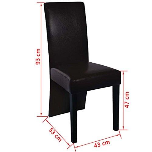 6 Stühle Stuhlgruppe Esszimmerstühle Essgruppe Sitzgruppe Esszimmer braun NEU