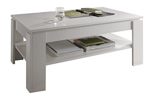trendteam CT Couchtisch Wohnzimmertisch Tisch| Weiß| 110 x 65 cm