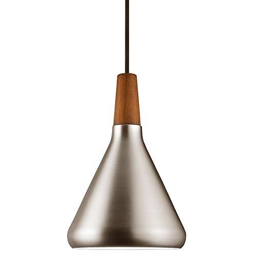 LICHT-TREND Pinzantero / Stahl-Pendelleuchte / Ø 18 cm / Walnuss-Holz