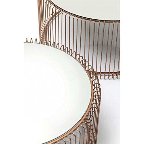 Kare 80198 Couchtisch Wire Copper (2/Set)