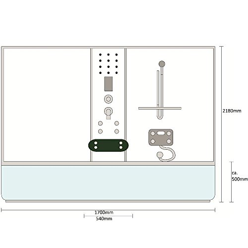 Home Deluxe Diamond Duschtempel, inkl. Whirlpool und Dampfsauna (weiß)
