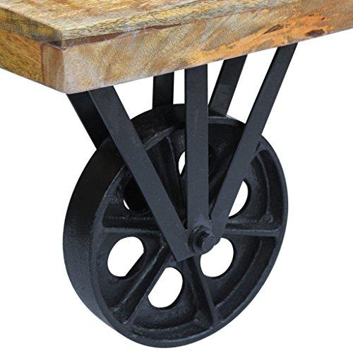 vidaXL Couchtisch Beistelltisch Kaffeetisch Wohnzimmertisch Industrie Design Mangoholz