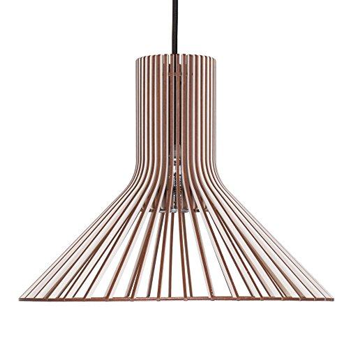 Pendelleuchte TOLVA aus Holz - Moderne Designer Deckenleuchte - 8 Farben erhältlich Weiss