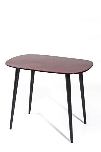 Kare 81142 Couchtisch La Costa Möbel, 2-er Set, Metall, hellrosa / dunkelrosa / schwarz, 53 x 90 x 40 cm