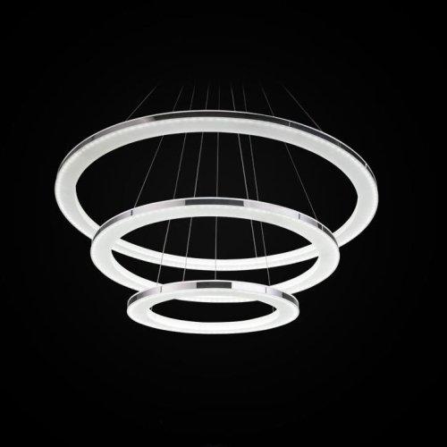 3 Ringe LED Pendelleuchte Modernes Zeitgenössisch Design für Dinning Wohnzimmer Schlafzimmer [Energieklasse A] - Warm Weiß