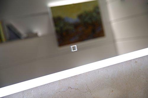 dr fleischmann badspiegel led spiegel gs042 mit beleuchtung durch satinierte lichtfl chen. Black Bedroom Furniture Sets. Home Design Ideas