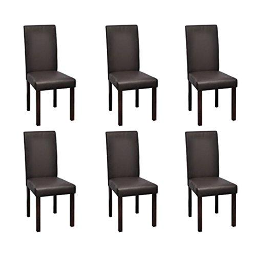 6 Stühle Stuhlgruppe Hochlehner Esszimmerstühle Essgruppe Sitzgruppe braun NEU 3