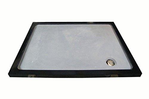 Duschwanne aus Naturstein, Duschtasse, Granit, 120*90cm, India Black Schwarz