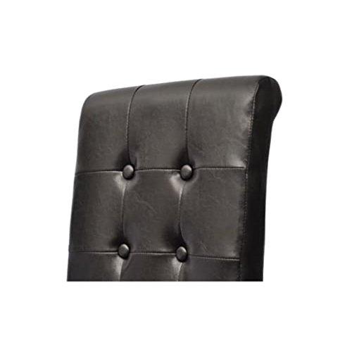 4 Stühle Stuhlgruppe Hochlehner Esszimmerstühle Essgruppe Sitzgruppe braun NEU 2