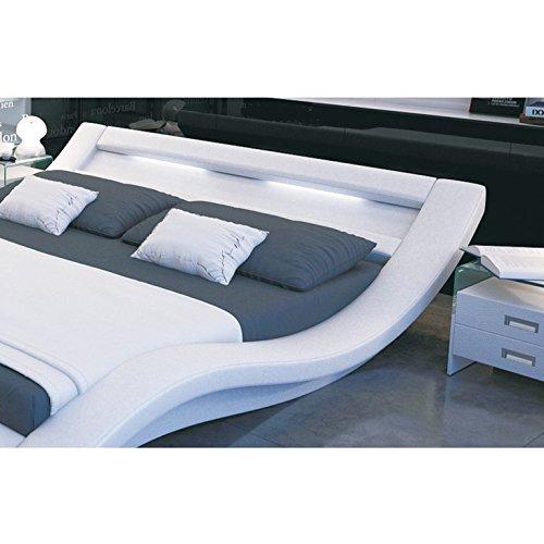 innocent polsterbett look wei mit led beleuchtung b 180 x l 200 x h 70 cm m bel24. Black Bedroom Furniture Sets. Home Design Ideas