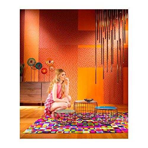 Kare 81140 Couchtisch, Edelstahl, bunt, 50 x 50 x 37 cm