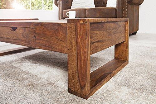 massiver couchtisch markant 100 cm sheesham mit schublade holztisch tisch m bel24. Black Bedroom Furniture Sets. Home Design Ideas