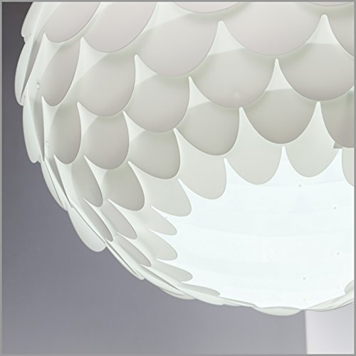 B.K Licht Hängelampe weiß - Hängeleuchte LED retro - Deckenleuchte/ Deckenlampe Flur, Pendelleuchte Küche modern, Wohnzimmerlampe, Küchenlampe hängend (L x B x H) 460 x 460 x 260 MM