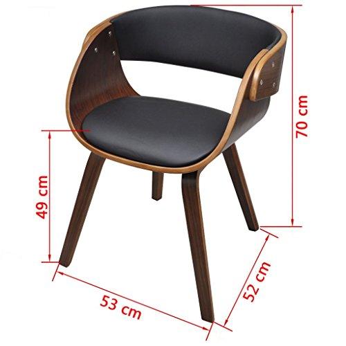 vidaXL 1 x Esszimmer Stuhl Stühle Sessel Esszimmerstühle Holzrahmen Sofa braun