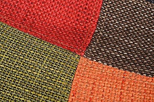 ts-ideen 1x Design Patchwork Sessel Wohnzimmer Küchen Büro Stuhl Esszimmer Sitz bunt vielfarbiger Stoffbezug Flicken Polsterung Sitzkomfort