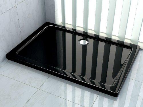 50 mm Duschtasse 160 x 90 cm (schwarz)