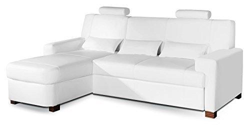 Polsterecke Sofa MODENA Wohnlandschaft Schlafsofa mit Schlaffunktion Schlafcouch Kunstleder Webstoff