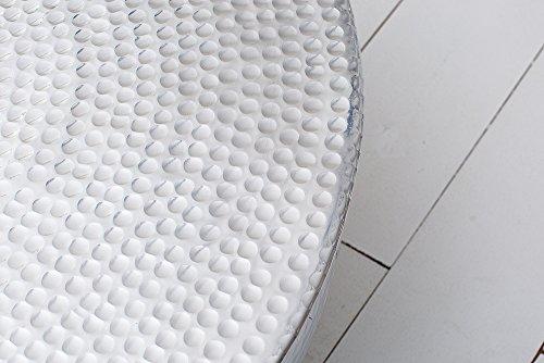 Couchtisch ORIENT II 70cm Aluminium silber Hammerschlag Optik Wohnzimmertisch Orientalisch